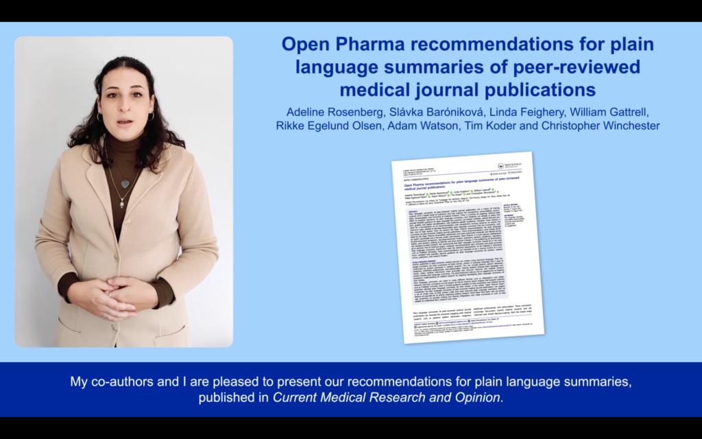 Open Pharma recommendations for PLS